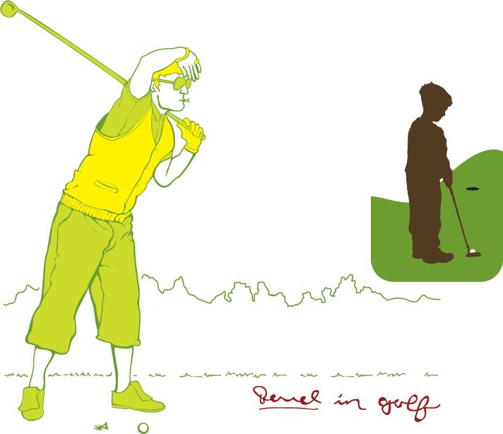 Revel Golf Old Skool and boy putter
